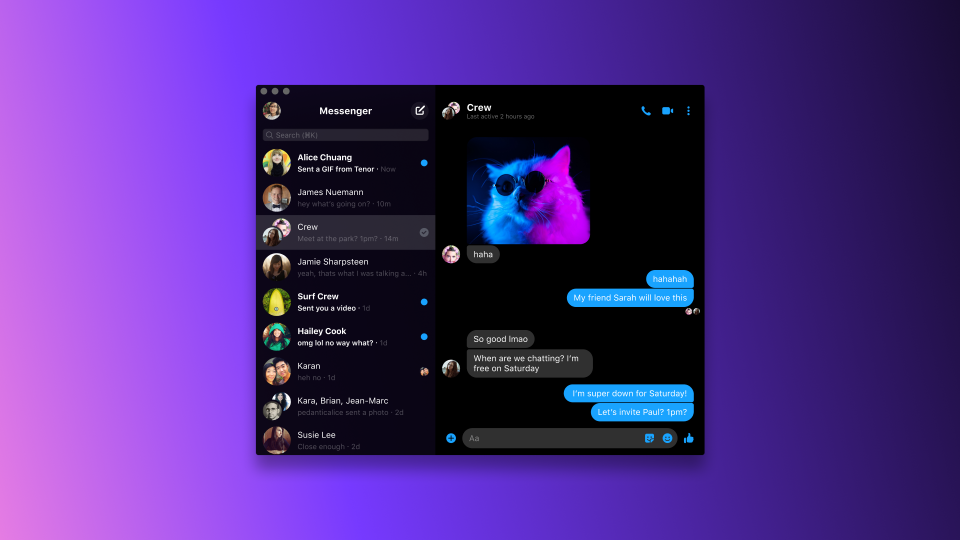 Messenger versione desktop